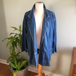 Linda Lundstrom vintage denim blazer sz 16